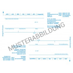 Personalienfeld Etiketten (2er) - Laserdruck