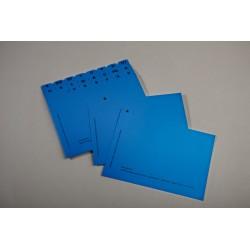 Karteileitkarte -uni blau, 24-teilig