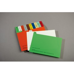 Karteileitkarte - mehrfarbig, 5o-teilig