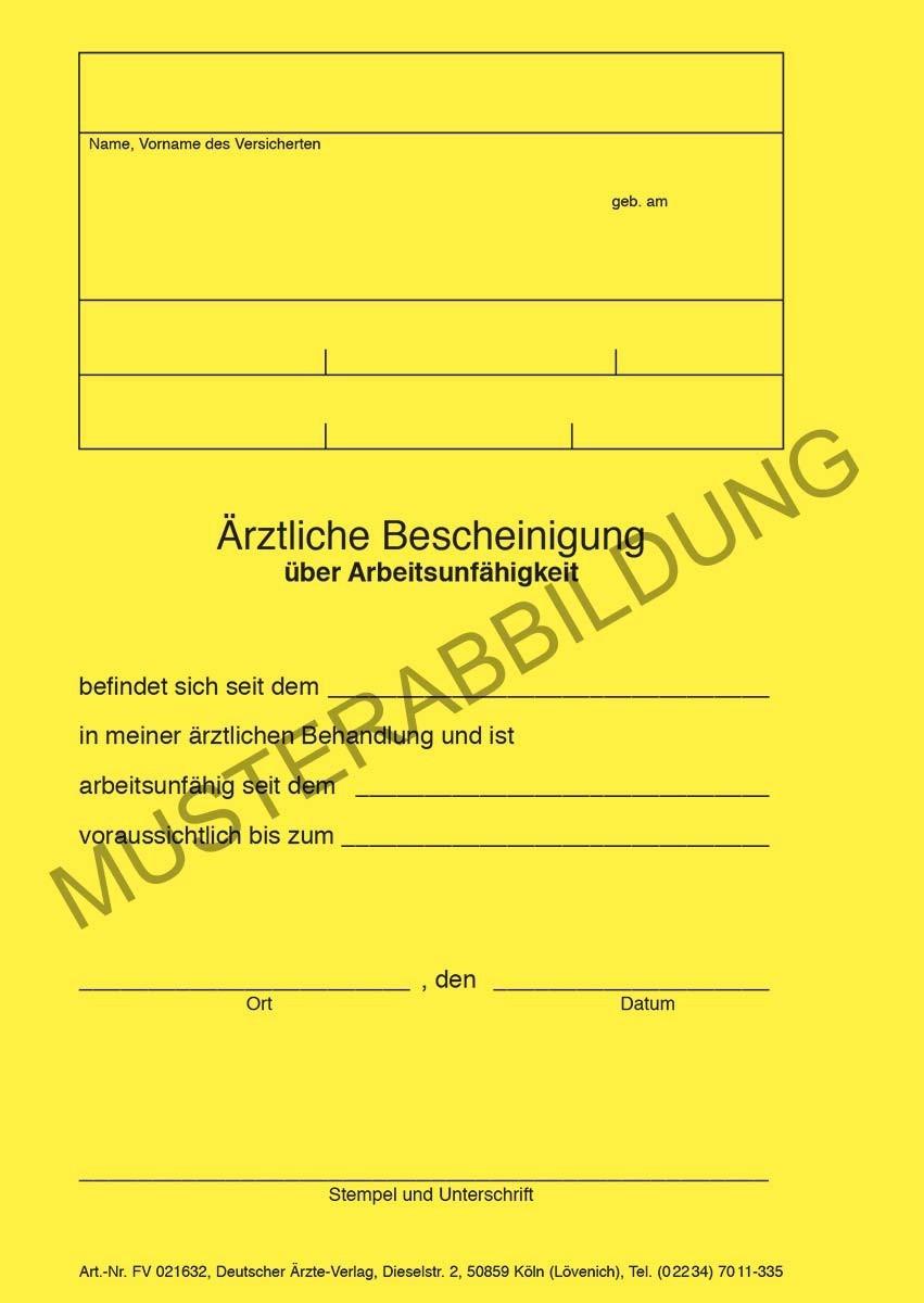 Ärztliche Bescheinigung AU (privat) - CEDIP Verlagsgesellschaft mbH