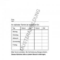 Behandlungskarte