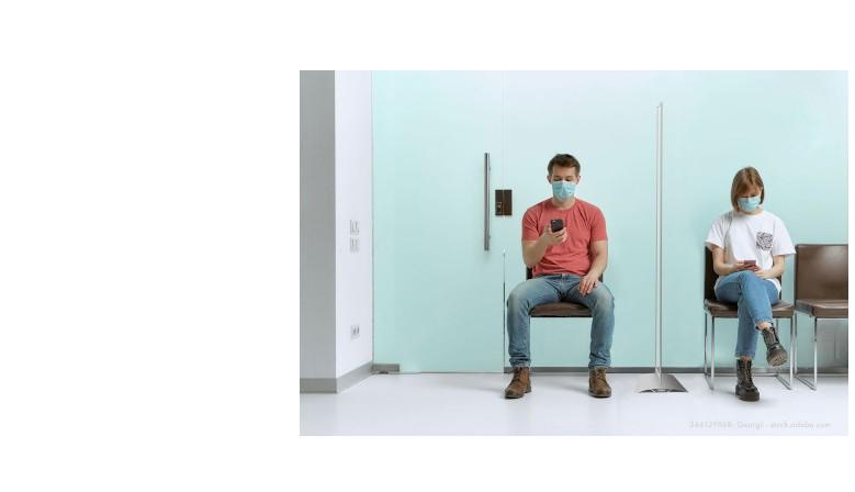 Mobile Infektionsschutz-Trennwände